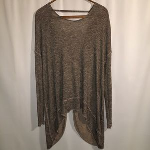 Free People Tops - FREE PEOPLE | MEDIUM | BROWN KNIT TOP W/ OPEN BACK